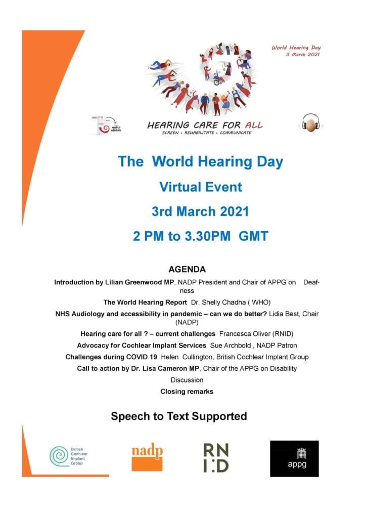 World Hearing Day 2021 event poster