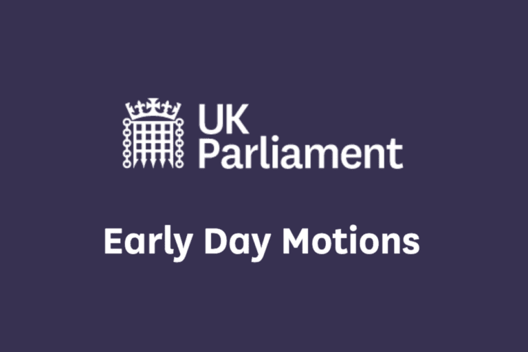UK Parliament Early Day Motions