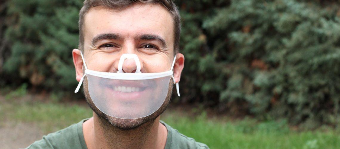 clear face masks